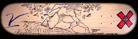 Glen Keane skateboard deck